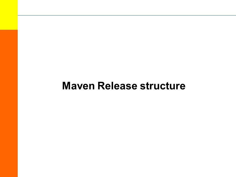 Maven Release structure