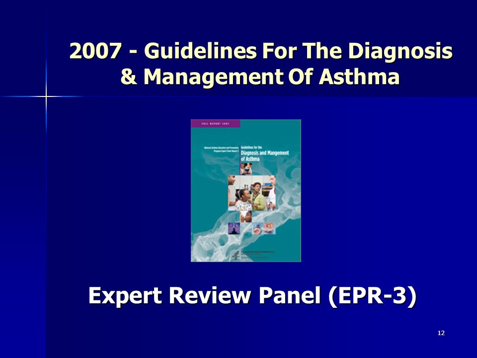 12 2007 - Guidelines For The Diagnosis & Management Of Asthma Expert Review Panel (EPR-3)