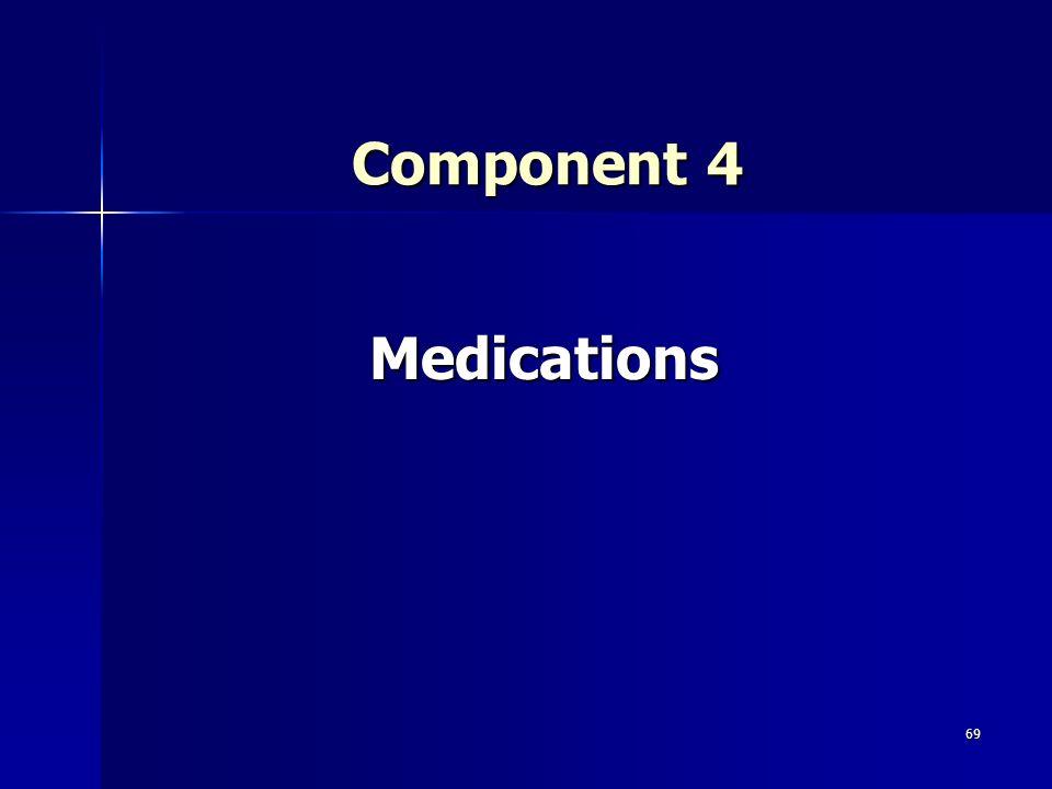 69 Component 4 Medications