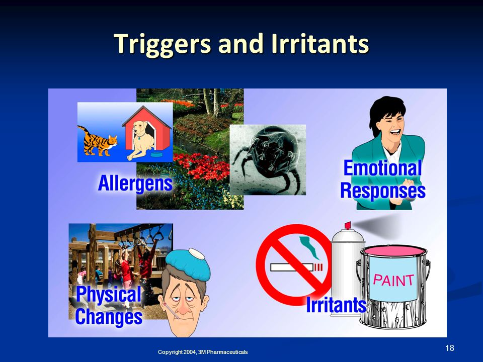18 Triggers and Irritants Copyright 2004, 3M Pharmaceuticals