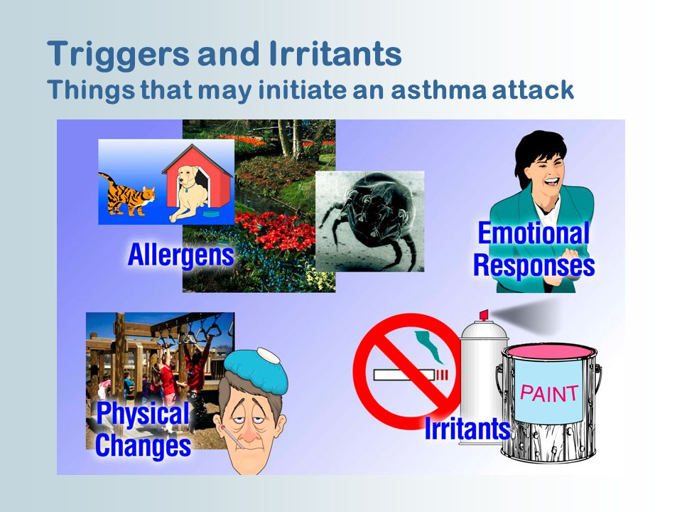 Triggers and Irritants Things that may initiate an asthma attack