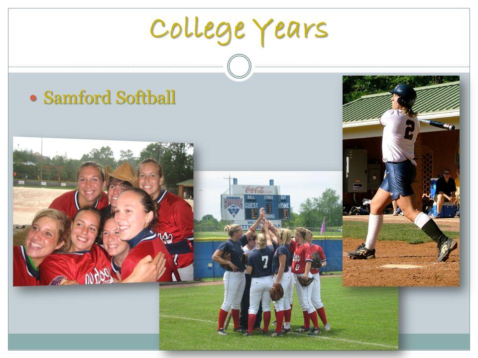 College Years Samford Softball Samford Softball
