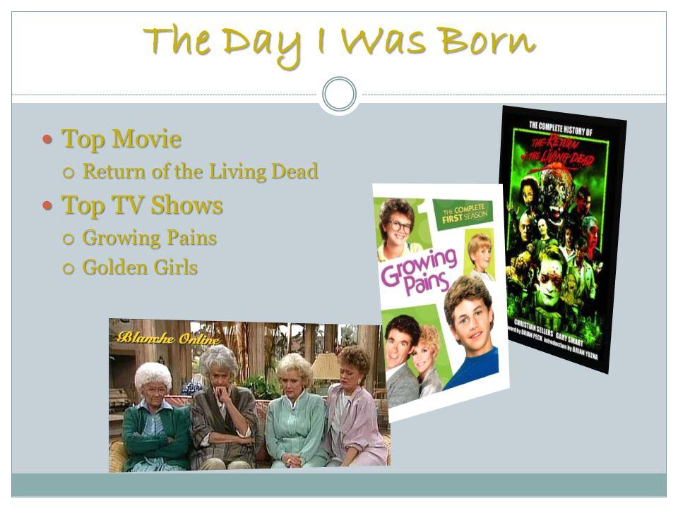 The Day I Was Born Top Movie Top Movie Return of the Living Dead Return of the Living Dead Top TV Shows Top TV Shows Growing Pains Growing Pains Golden Girls Golden Girls