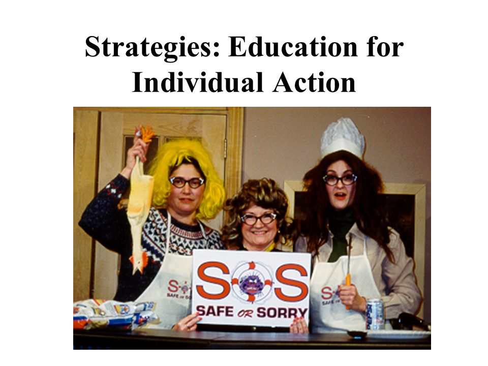 Strategies: Education for Individual Action