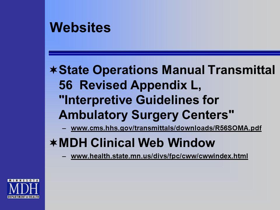 Websites State Operations Manual Transmittal 56 Revised Appendix L,