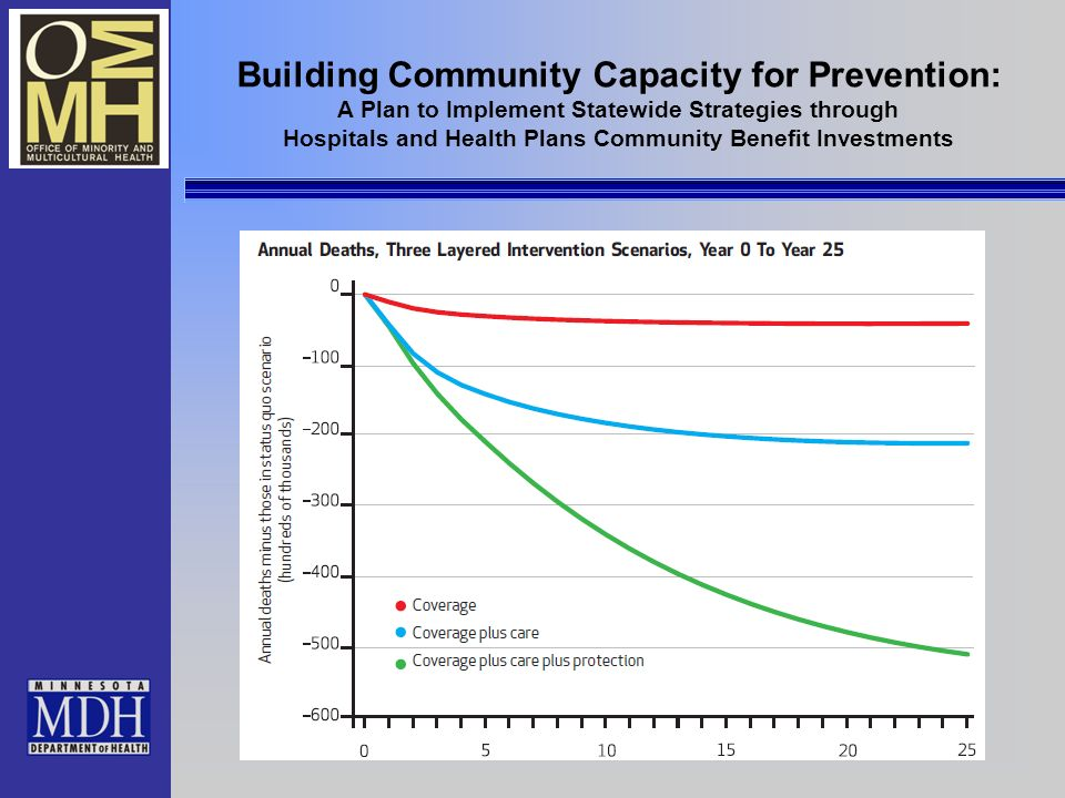 Building Community Capacity for Prevention: A Plan to Implement Statewide Strategies through Hospitals and Health Plans Community Benefit Investments