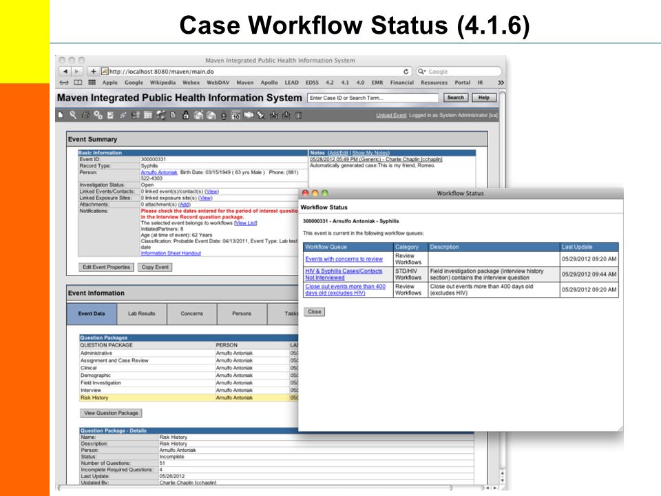 Case Workflow Status (4.1.6)