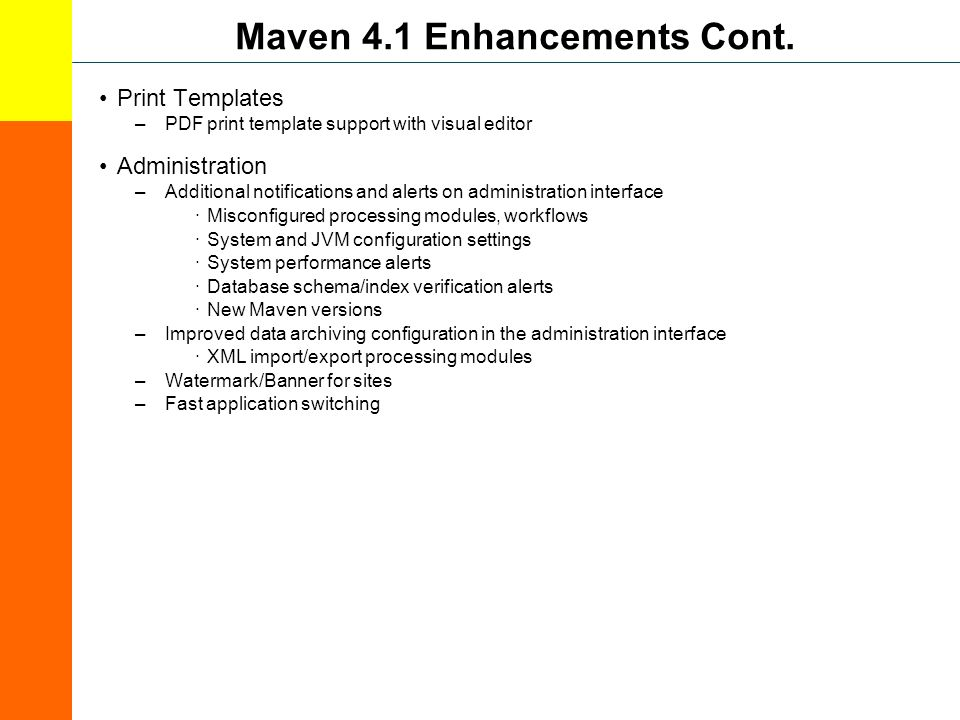 Maven 4.1 Enhancements Cont.