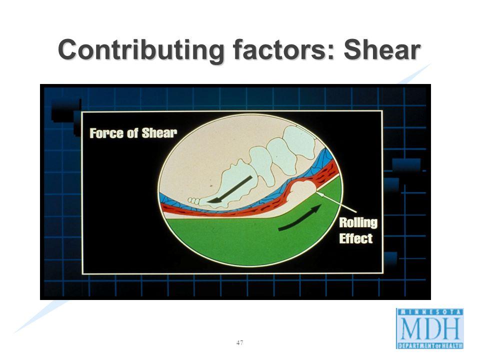 47 Contributing factors: Shear