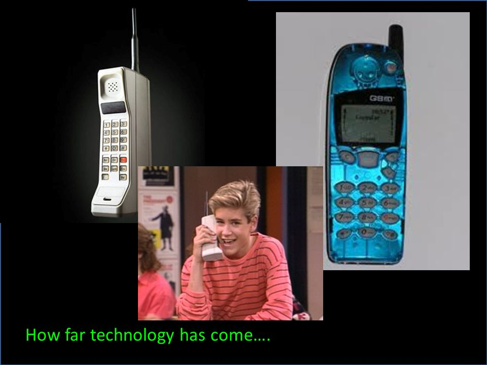 How far technology has come….