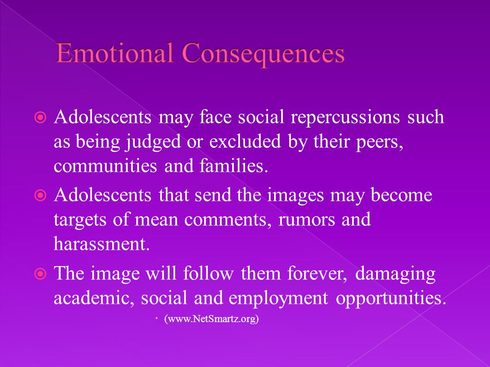 Adolescents may face social repercussions such as being judged or excluded by their peers, communities and families.