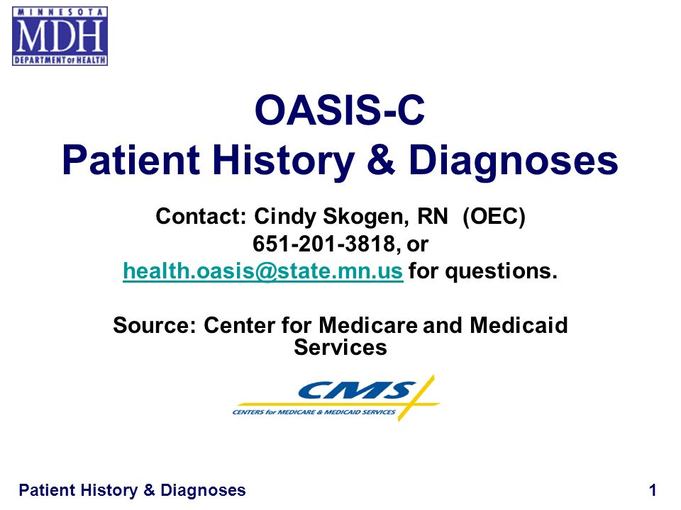 Patient History & Diagnoses12 M1010 Inpatient Diagnosis List each Inpatient Diagnosis and ICD-9-CM code at the level of highest specificity for only those conditions actively treated during an inpatient stay within the last 14 days No E codes, or V codes –List underlying diagnosis No surgical codes –List underlying dx that was surgically treated.