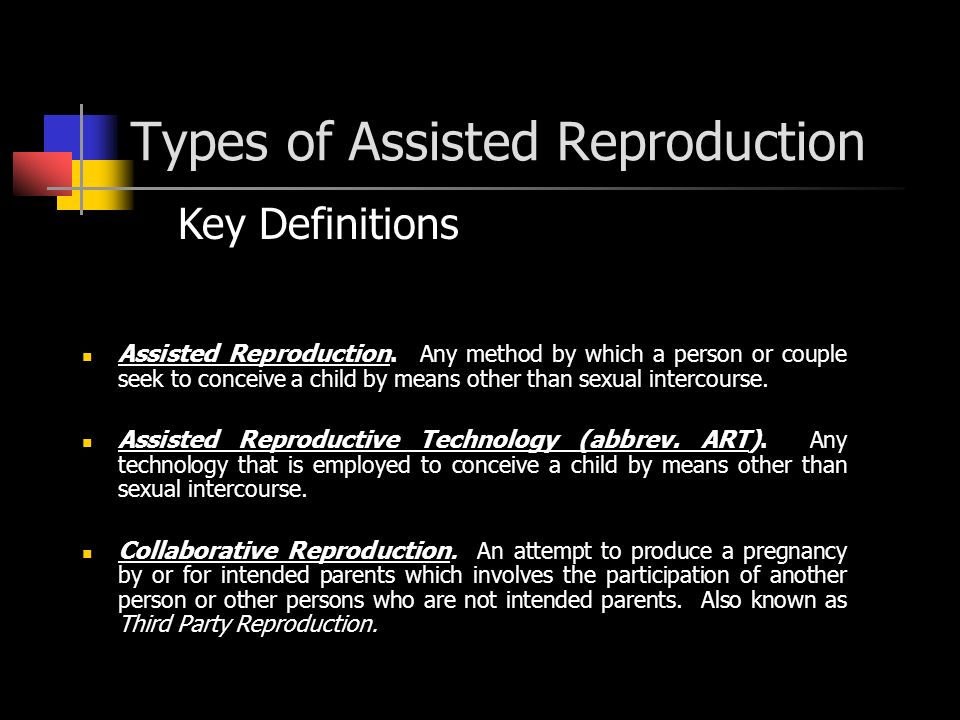 Types of Assisted Reproduction Key Definitions Assisted Reproduction.