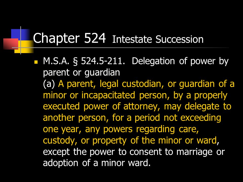 Chapter 524 Intestate Succession M.S.A. § 524.5-211.