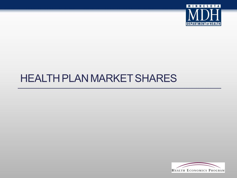 HEALTH PLAN MARKET SHARES