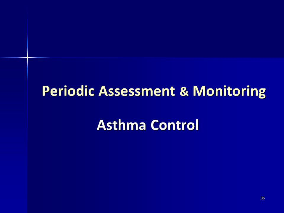 35 Periodic Assessment & Monitoring Asthma Control