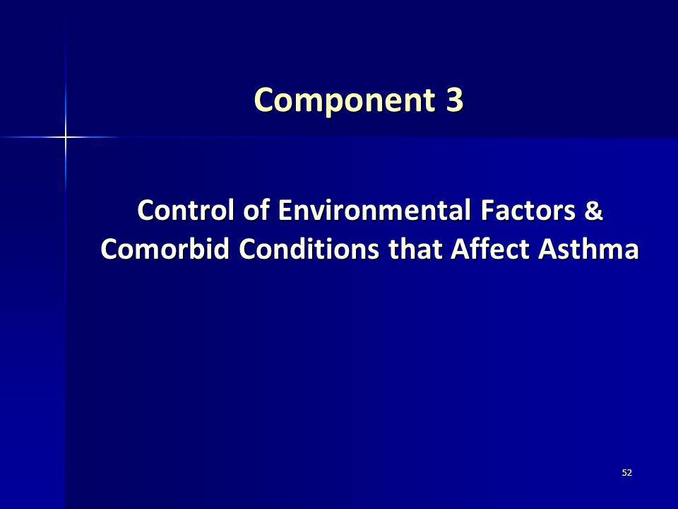 52 Component 3 Control of Environmental Factors & Comorbid Conditions that Affect Asthma