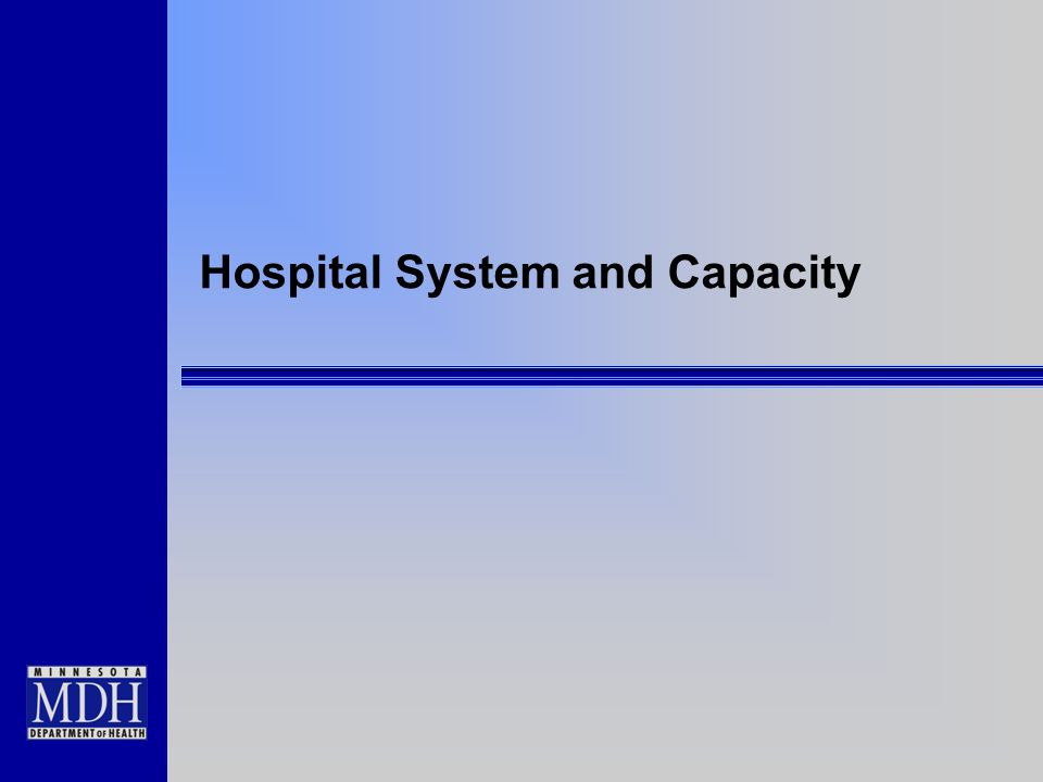 Hospital System and Capacity