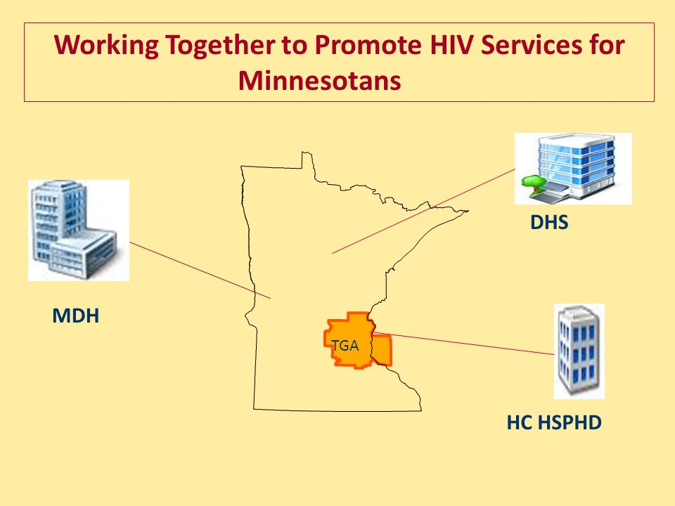 MDH DHS HC HSPHD Working Together to Promote HIV Services for Minnesotans TGA