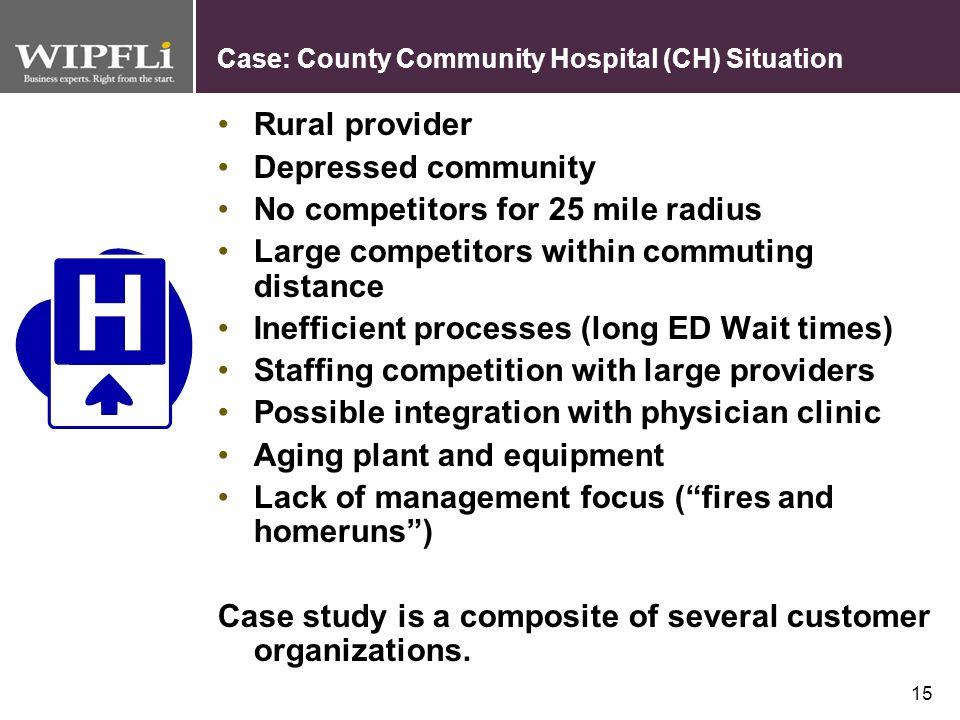 14 Case Study: County Community Hospital