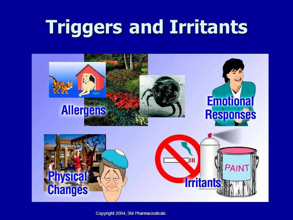 Triggers and Irritants Copyright 2004, 3M Pharmaceuticals