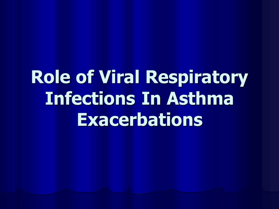 Role of Viral Respiratory Infections In Asthma Exacerbations