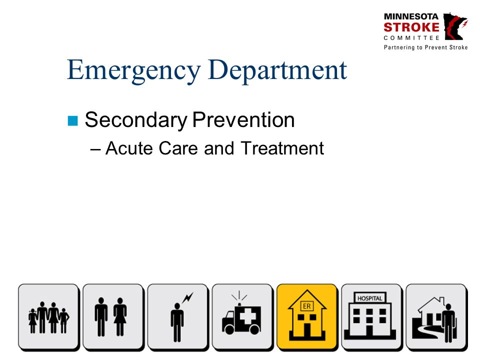 Emergency Department Secondary Prevention –Acute Care and Treatment