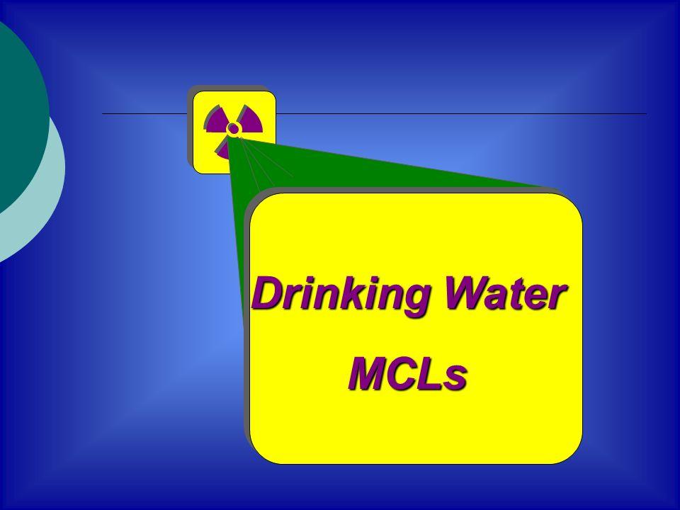 Drinking Water MCLs