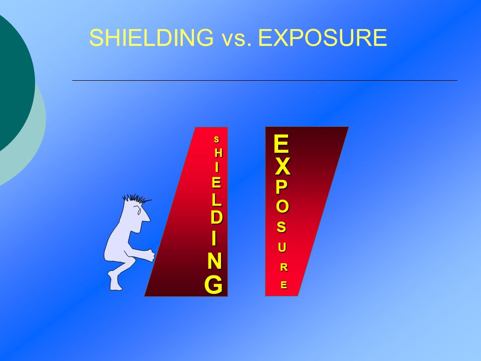 SHIELDING vs. EXPOSURE E X P O S U R E S H I E L D I N G