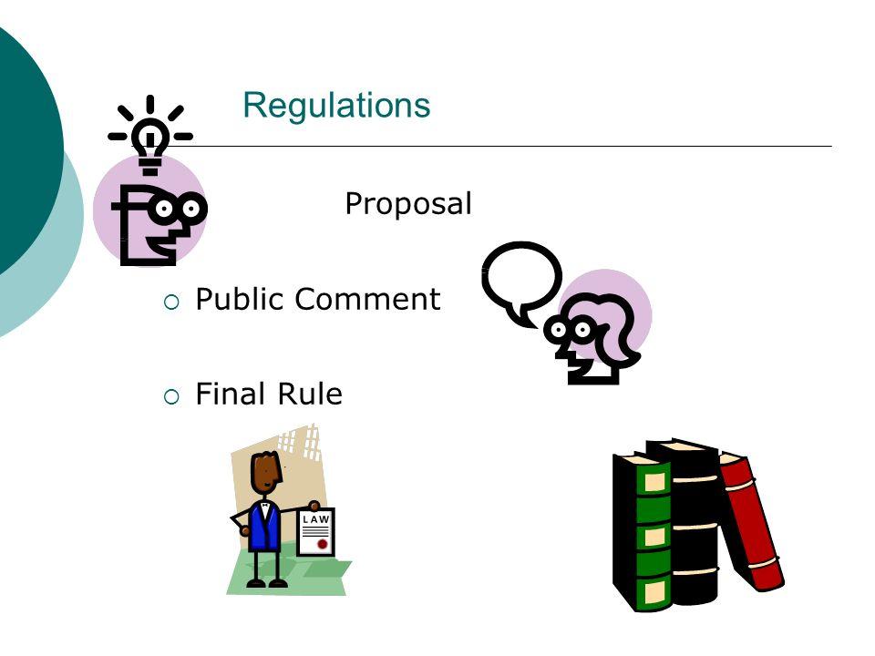 Regulations Proposal Public Comment Final Rule