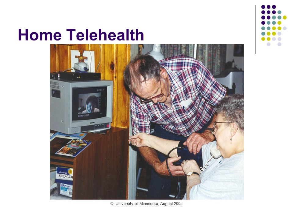 © University of Minnesota, August 2005 Home Telehealth