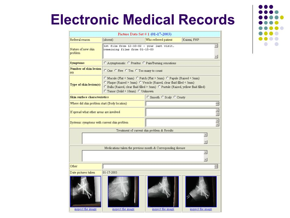 © University of Minnesota, August 2005 Electronic Medical Records