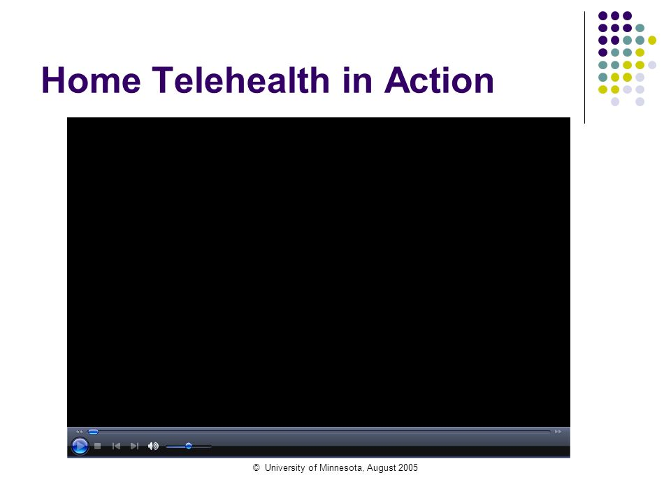 © University of Minnesota, August 2005 Home Telehealth in Action