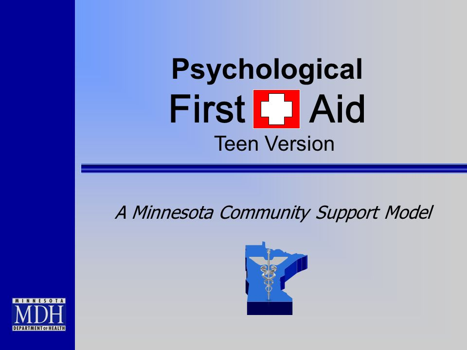 Why Should You Learn Psychological First Aid.