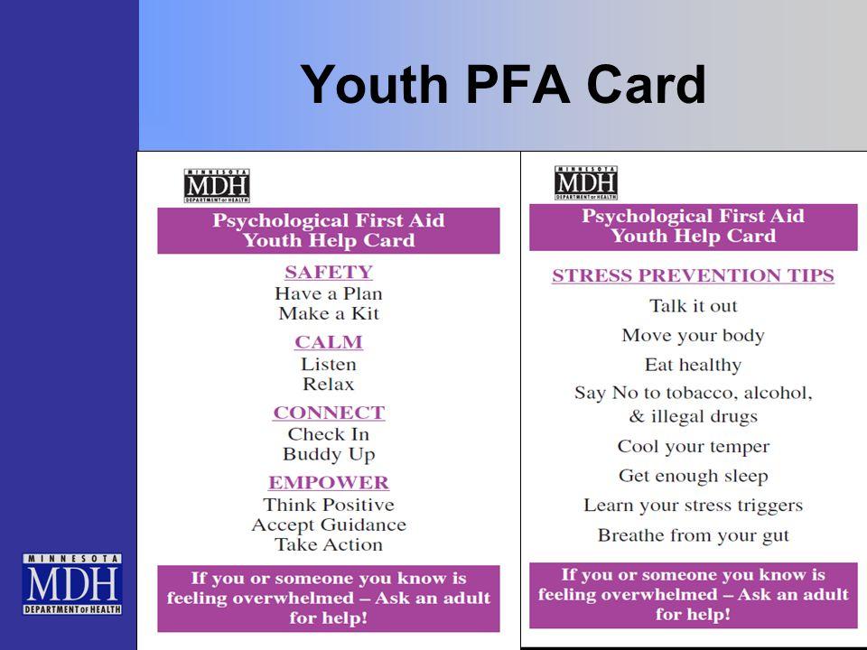 Youth PFA Card
