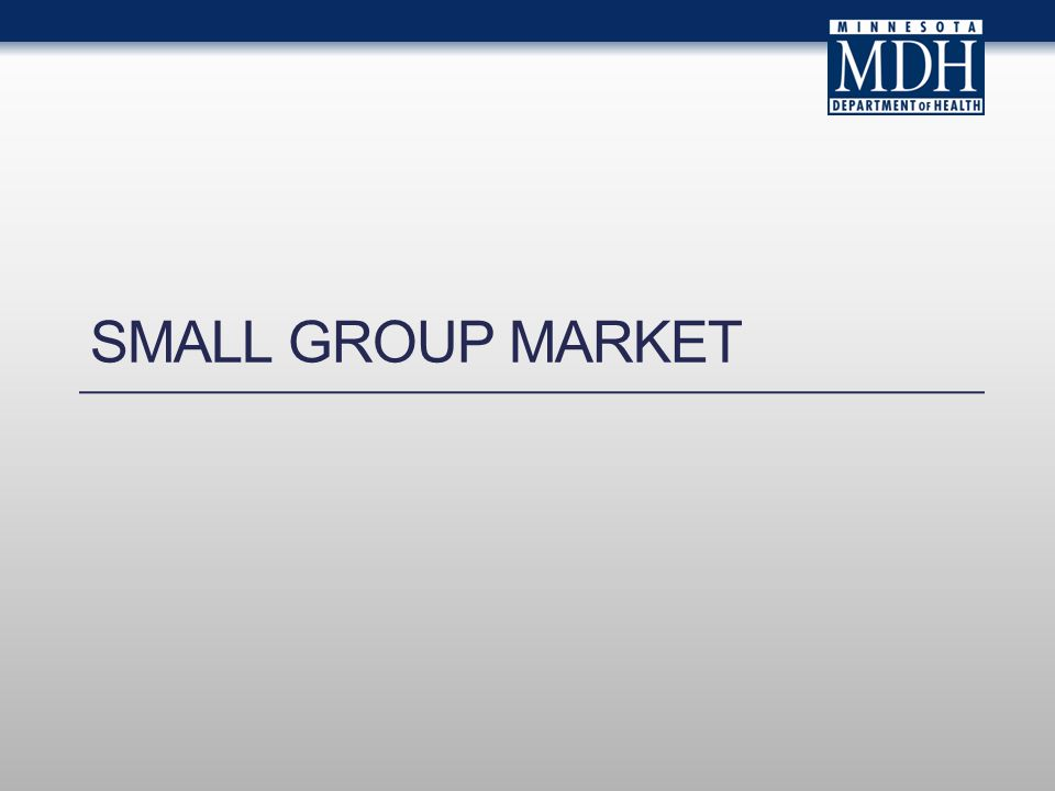 SMALL GROUP MARKET