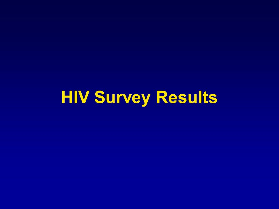 HIV Survey Results