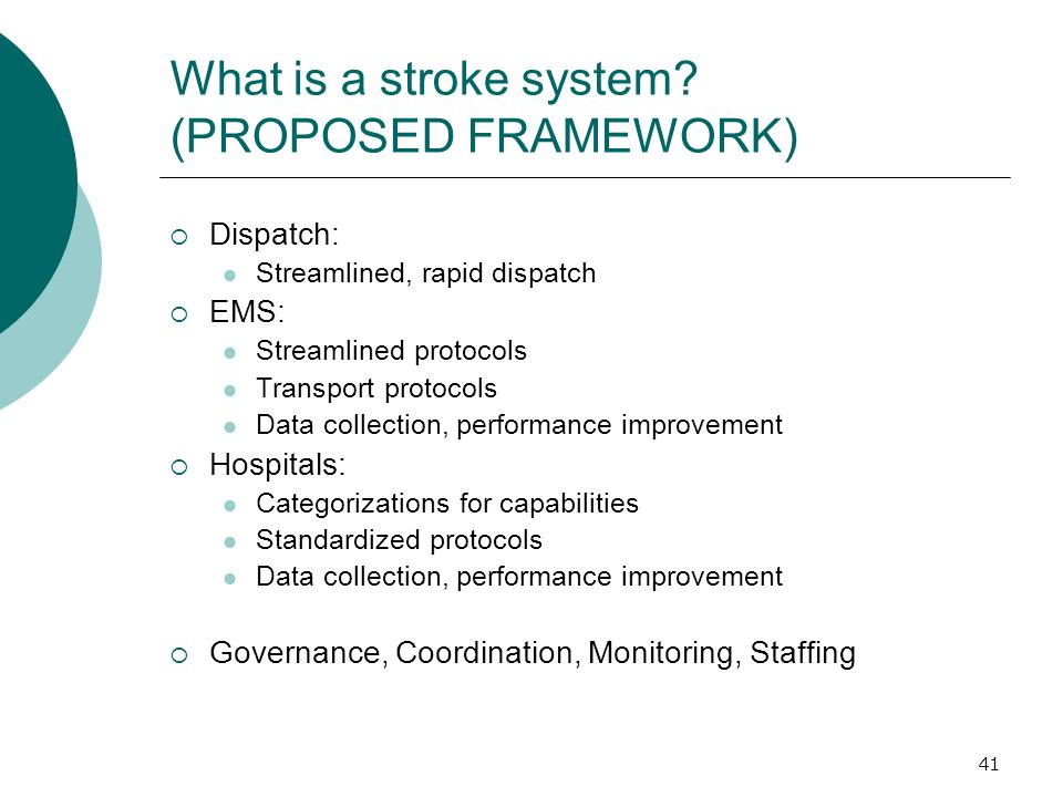41 What is a stroke system.