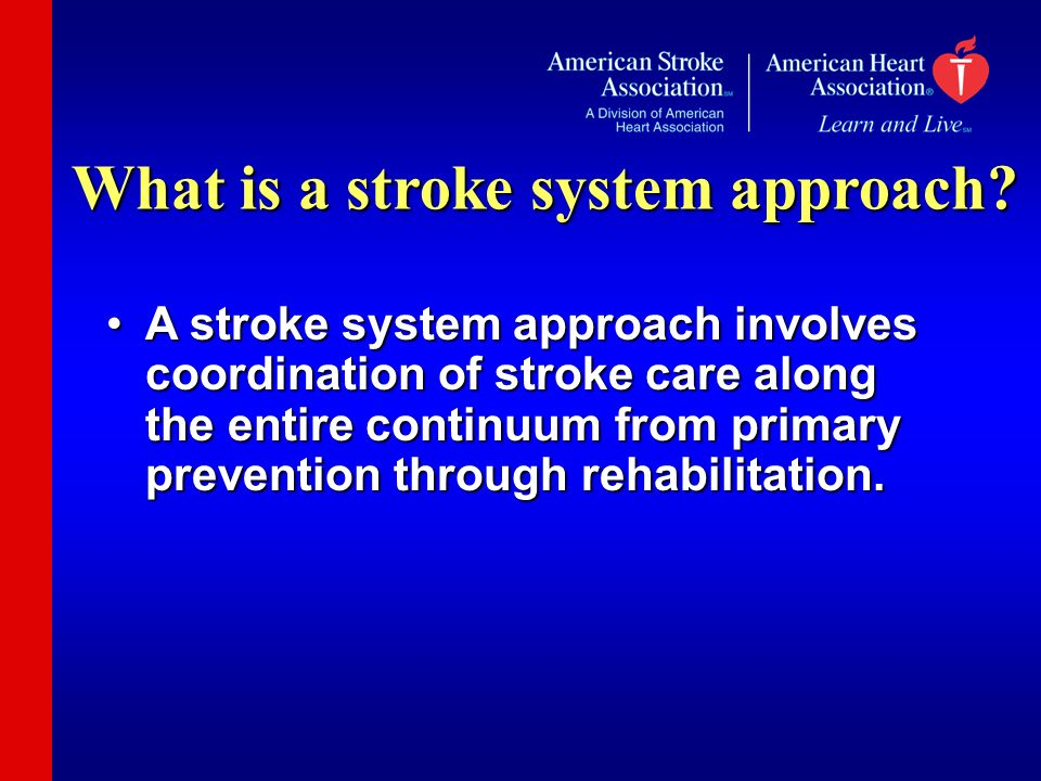 What is a stroke system approach.