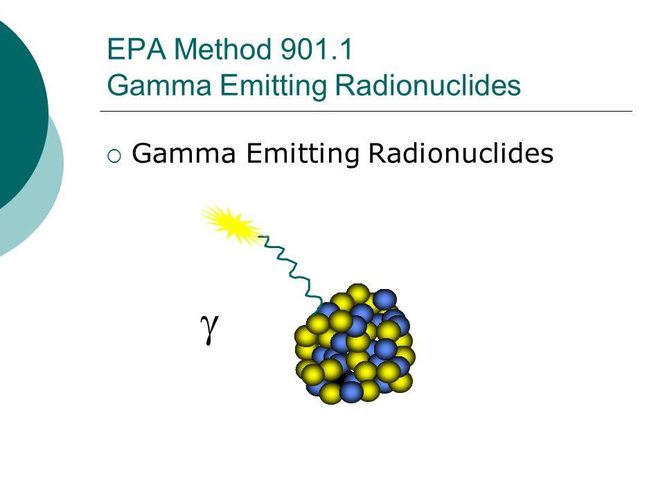 EPA Method 901.1 Gamma Emitting Radionuclides Gamma Emitting Radionuclides