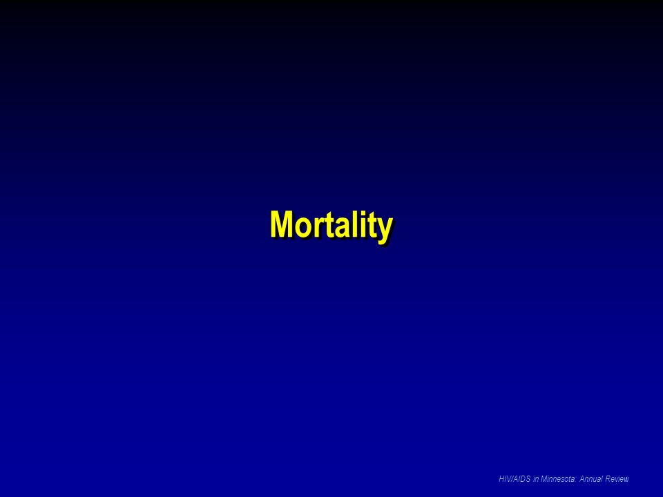 Mortality HIV/AIDS in Minnesota: Annual Review