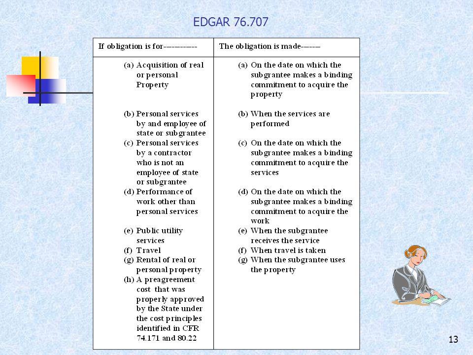 13 EDGAR 76.707