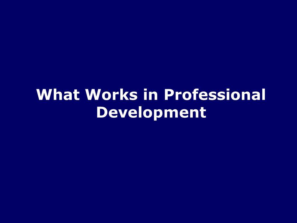 Planning Professional Development