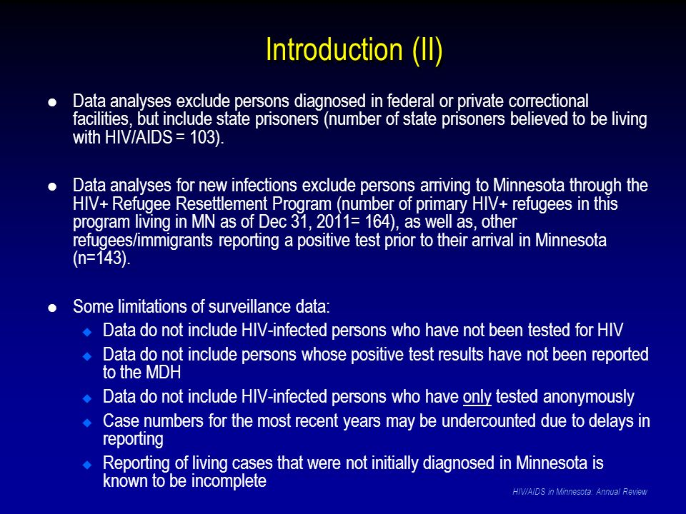 Mode of Exposure HIV/AIDS in Minnesota: Annual Review