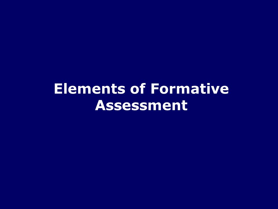 7/49 Formative assessment is the means to identify the gap between a learners current status and the desired goal Different students will have different gaps (Sadler, 1989) Identifying the Gap