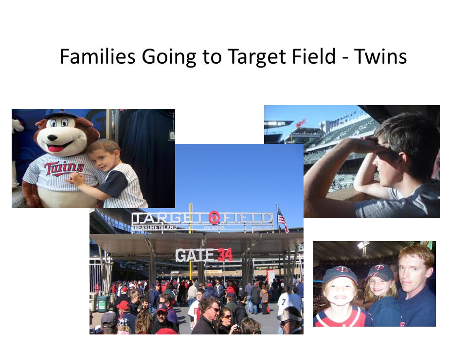 Families Going to Target Field - Twins