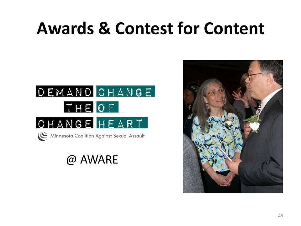 Awards & Contest for Content @ AWARE 48