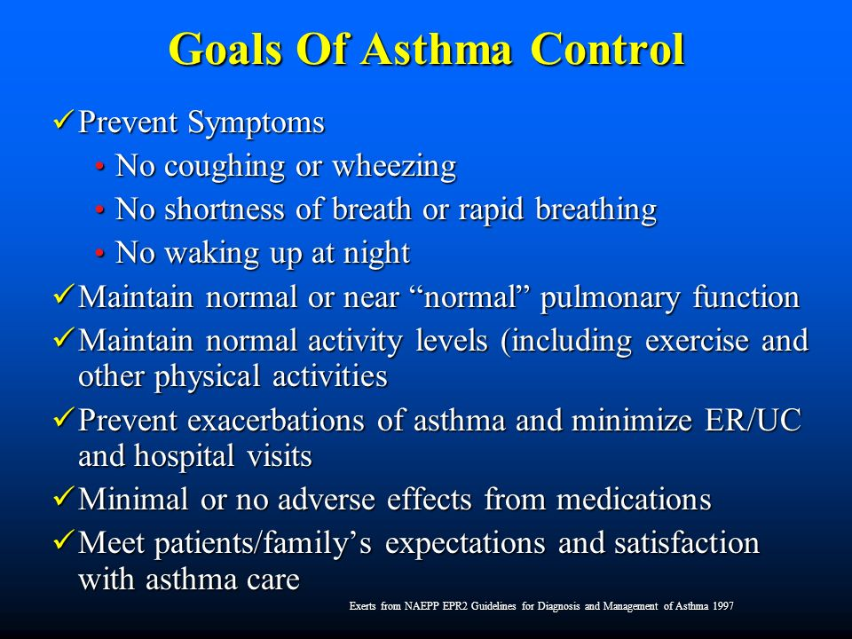 Asthma Control Do Most Students Have It?