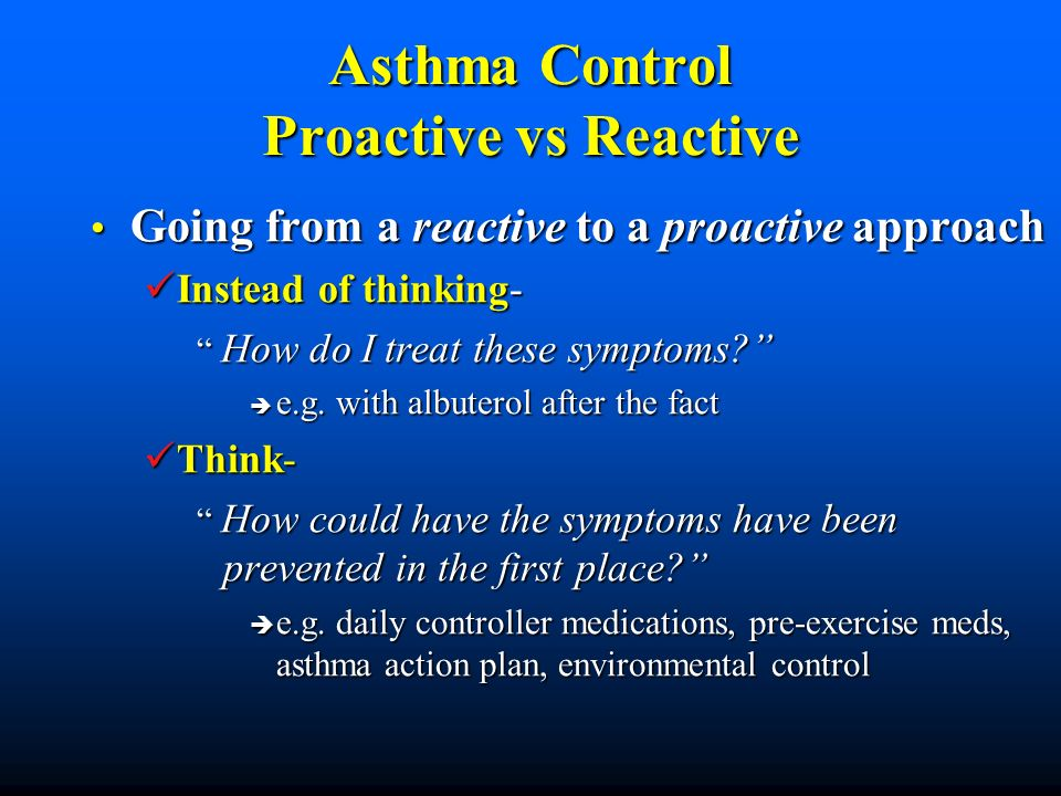 Health Office Scenario A 4th grade student who you have not seen in the health office this year for asthma symptoms, has a diagnosis of asthma in her record, and has albuterol MDI / orders in the health office at school, but no Asthma Action Plan.