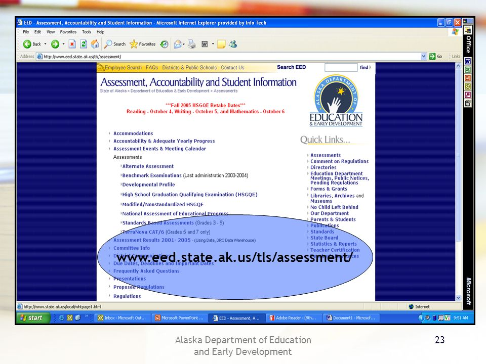 Alaska Department of Education and Early Development 23